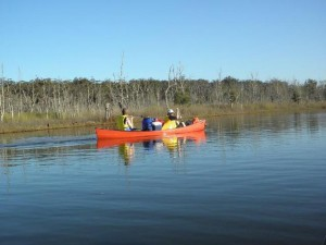 Durras Lake Canoeing