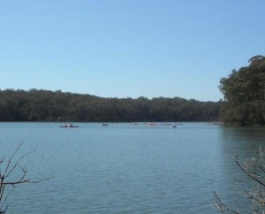 Canoeing on Durras Lake