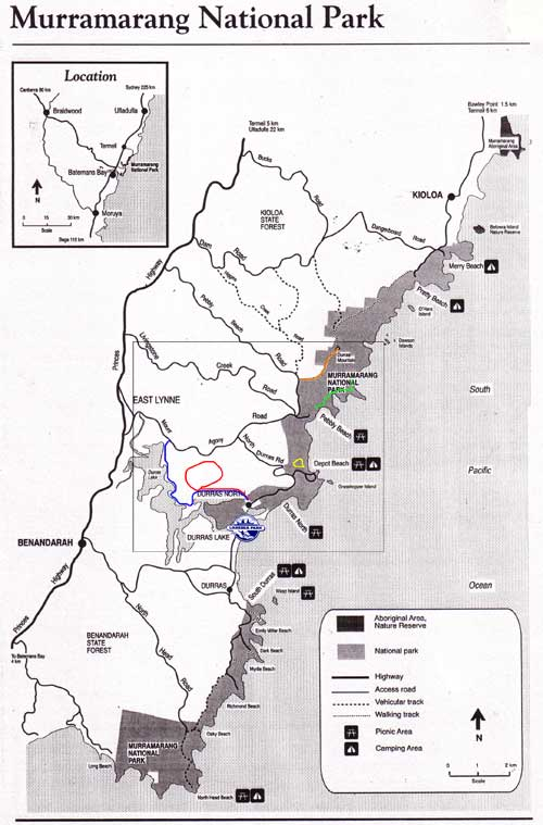 Murramarang National Park Walks Map