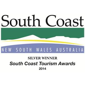 South Coast Tourism Awards 2014 Silver Winner