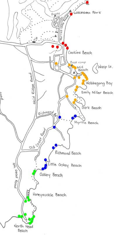 Coastline Walk Image Tour Map