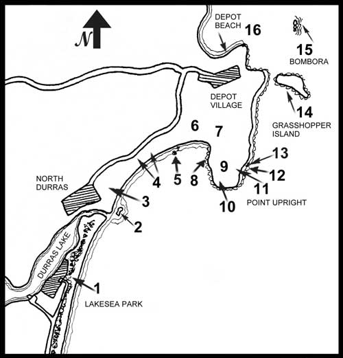 Depot Beach Seashore Walk Map